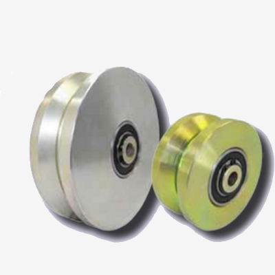 solid steel v-groove wheels