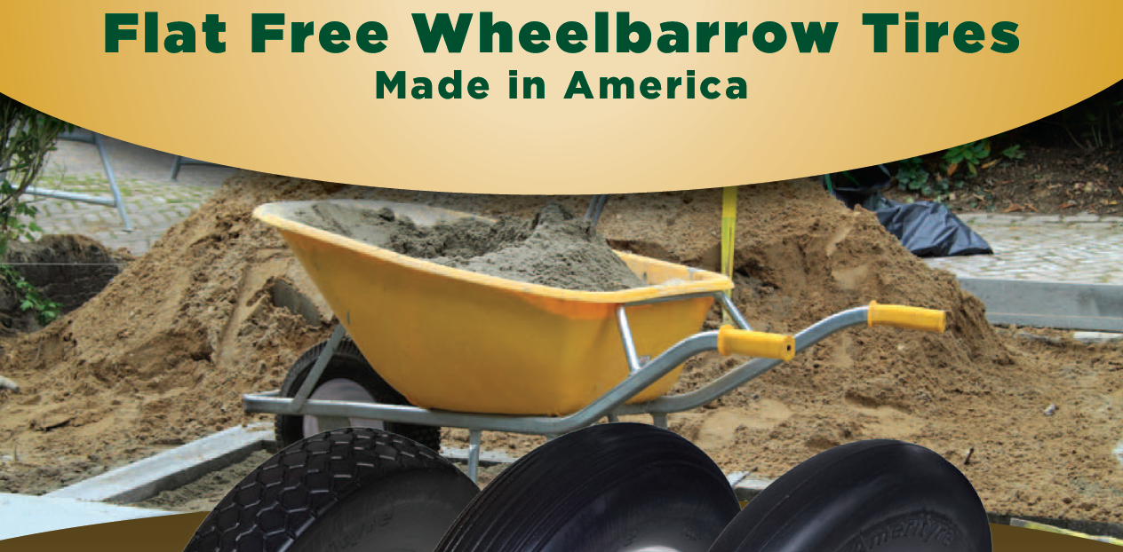 flat-free wheelbarrow tires