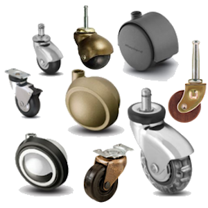 Check out our decorative line of furniture casters from Shepherd Caster Corporation